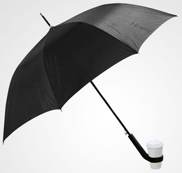 skėtis su puodelių laikikliu