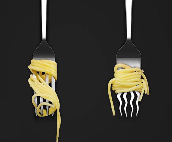 spageti šakutė