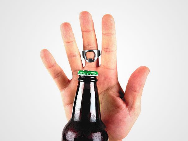 žiedas butelių atidarytuvas